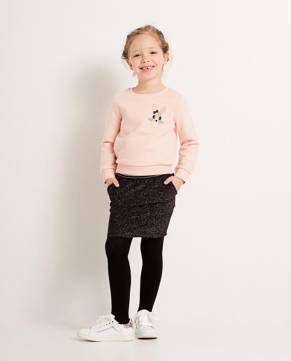 Hellrosa Sweater - mit Kaninchenprint - JBC